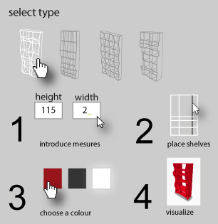 Imotiu bookcases custom generative furniture for Design your own furniture online