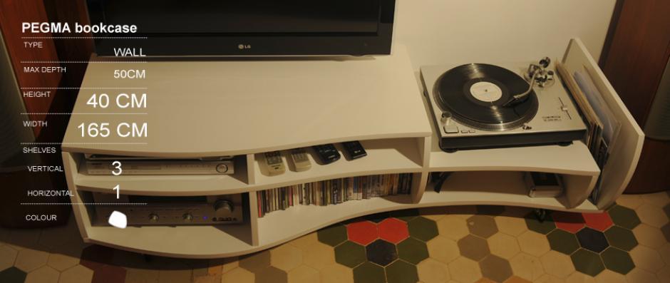 PEGMA custom bookcase - Imotiu